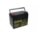 Baterie long 12v 34ah olověný akumulátor deepcycle agm f4