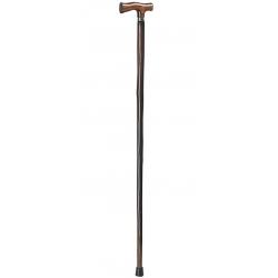 Dřevěná vycházková hůl ve tvaru t thuasne – nová!