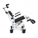 Toaletní židle na kolečkách Badoflex 4000, polohovací, odlehčená
