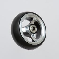 """Hliníkové kolečko 100 x 35 (4"""") - černo / stříbrná"""